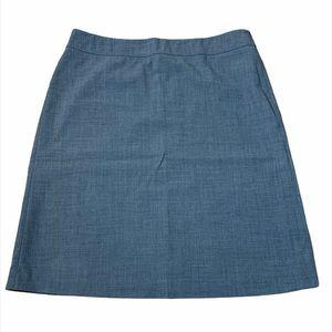 Escada Sport Grey Wool Lined Midi Skirt